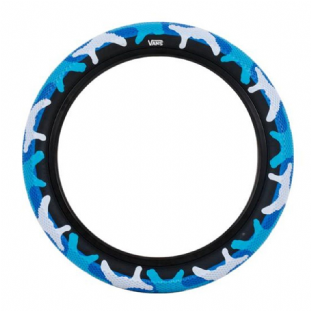 "Cult 14"" Vans Tyre - Blue Camo With Black Sidewall 2.20"""
